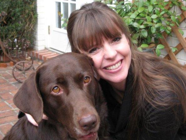 Victoria w/her dog Sadie