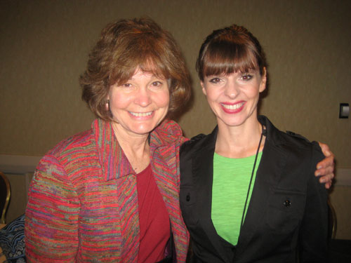 Patricia McConnell with Victoria
