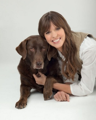 Victoria Stilwell with her dog Sadie